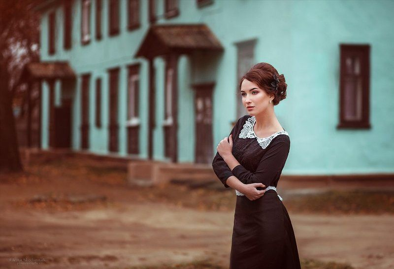 черное платье, девушка, осень, винтаж, ретро based on Lermontov...photo preview