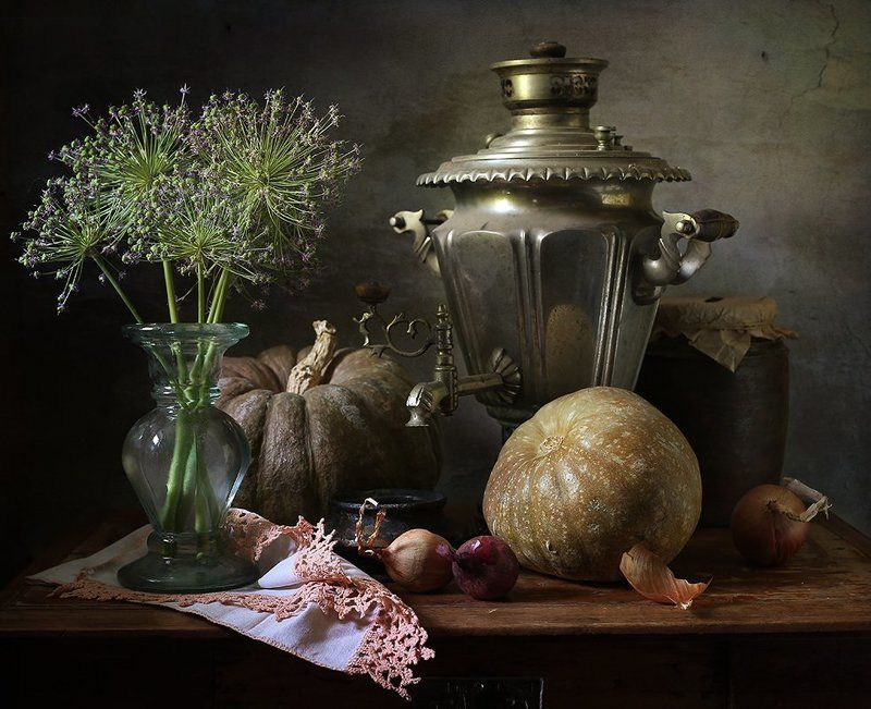 тыквы, самовар, кукуруза Прошлогодные тыквыphoto preview