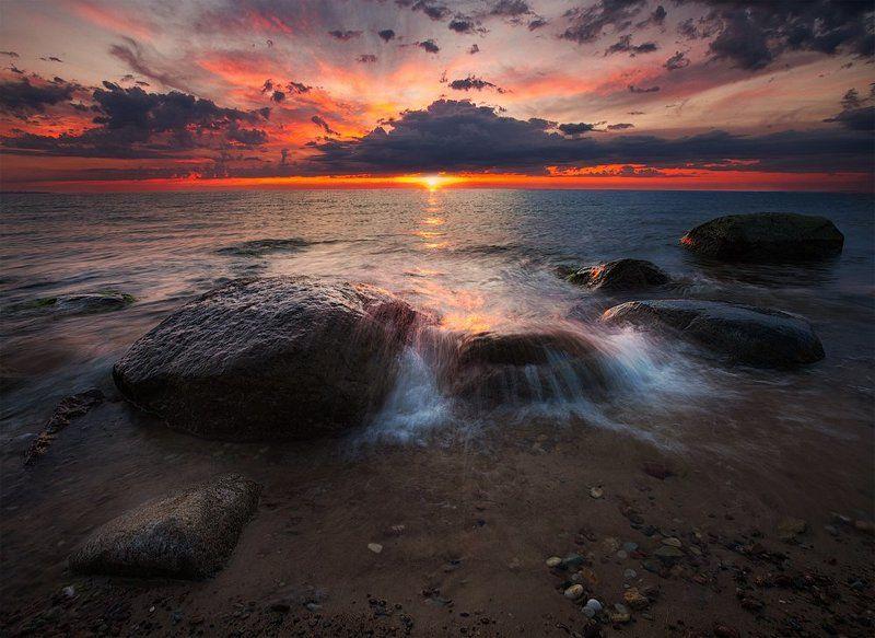 закат, ключенков, море, небо, пейзаж, цвет, эстония Удрияphoto preview