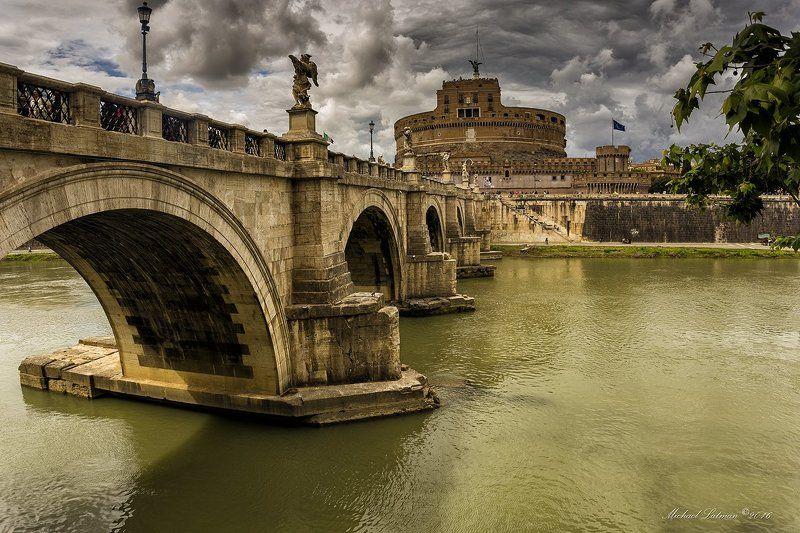 Ancient, Beautiful, Bridge, Castle, City, River, Rome, Tiber Ponte Sant\' Angelophoto preview