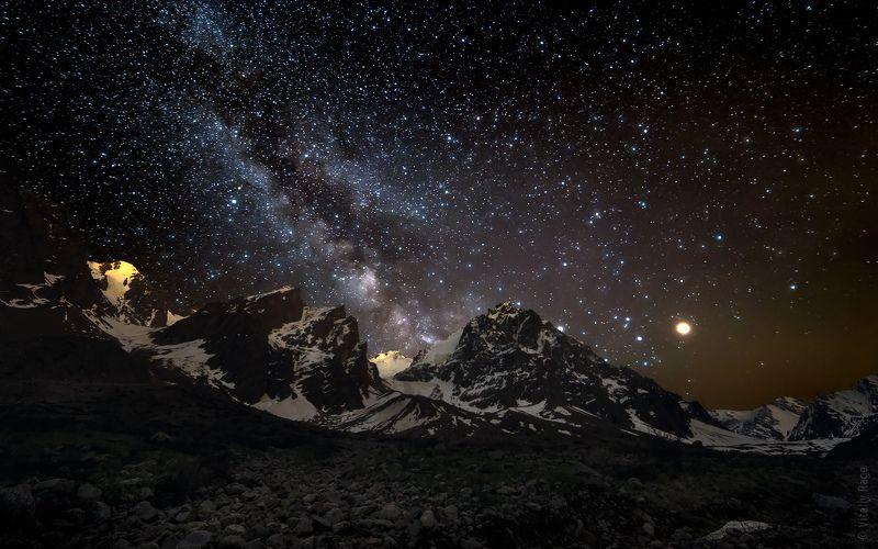 млечный путь, космос, горы, казахстан, алматы Марсphoto preview