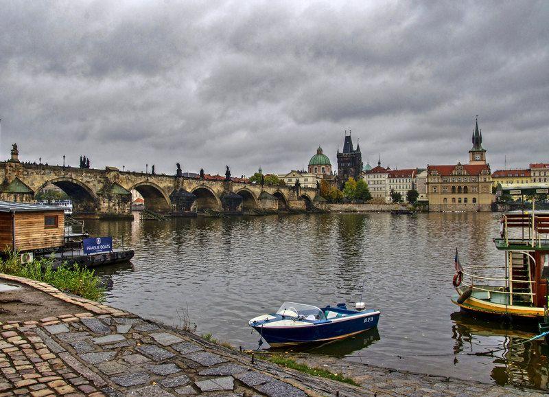 Мост, Прага, Река Пражские зарисовкиphoto preview