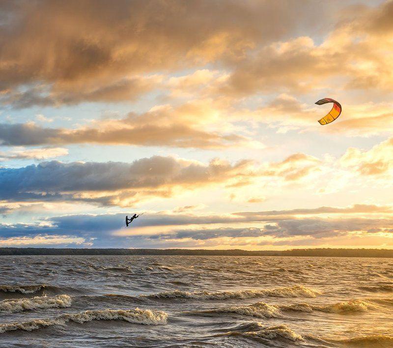 Закат, Кайт, Кострома, Костромское море Мэри Поппинсphoto preview