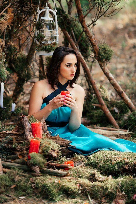 девушка, лес, магия В гостях у лесаphoto preview