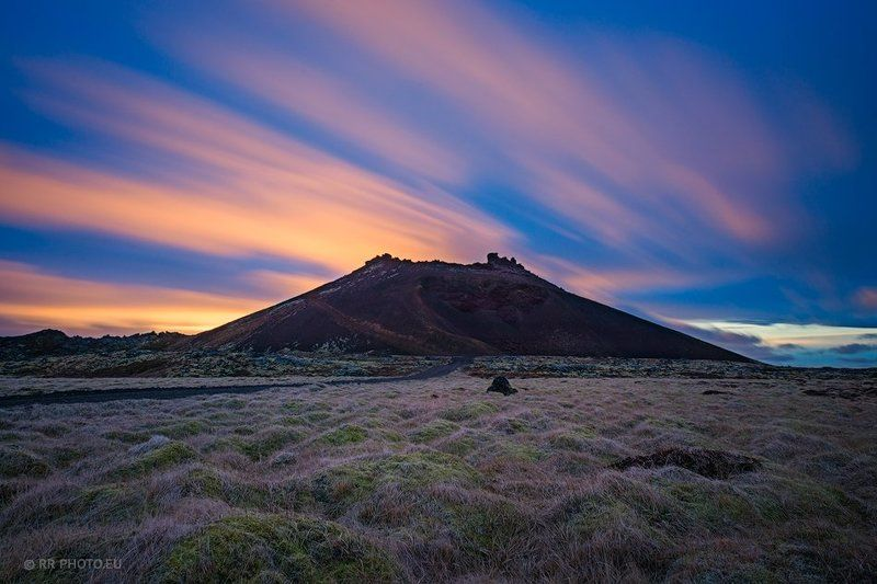 crater, volcano, landscape, iceland, long exposure,  Saxholl Craterphoto preview