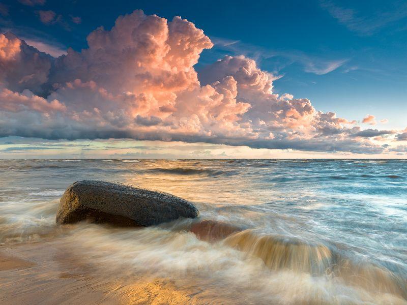 пейзаж море волны латвия ***photo preview