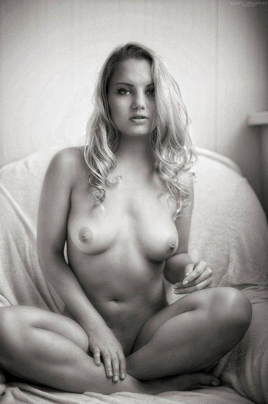 art nude, black & white, karen abramyan, nude, portrait yogaphoto preview