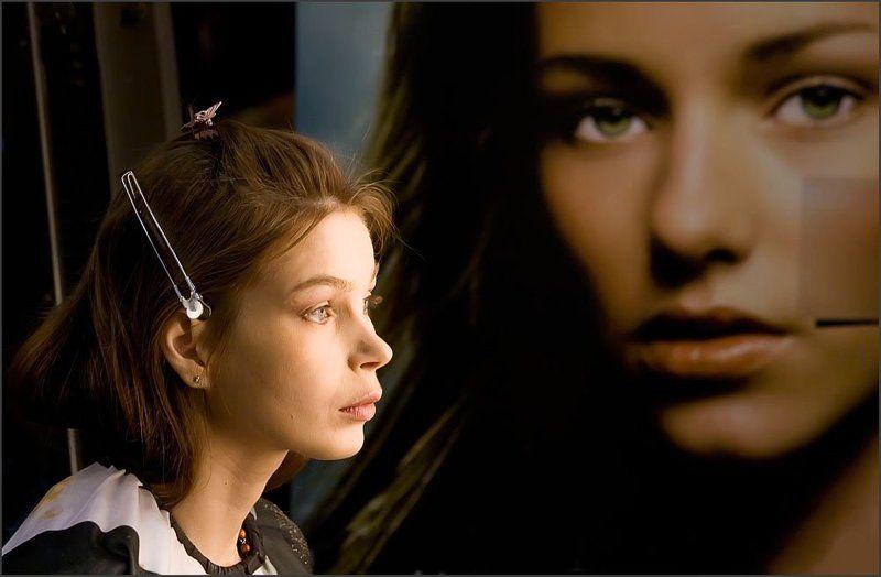 незнакомка девушка мысли Коль в закуток  души.. укрылась.. Не спеши.. Обратно выходить.. Что б снова здесь не быть..photo preview