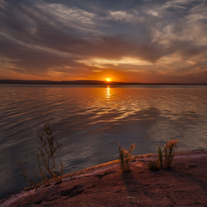челябинск, урал, закат, небо, облака, шершнёвское водохранилище Шершнёвские минимализмыphoto preview
