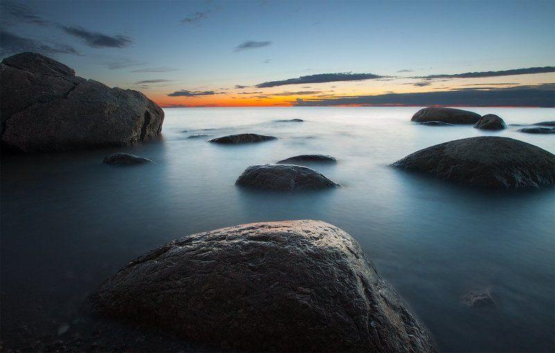 Вечер, Камни, Ключенков, Лето, Море, Эстония Вечерние посиделкиphoto preview