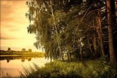 Утро над Вяткой рекой.