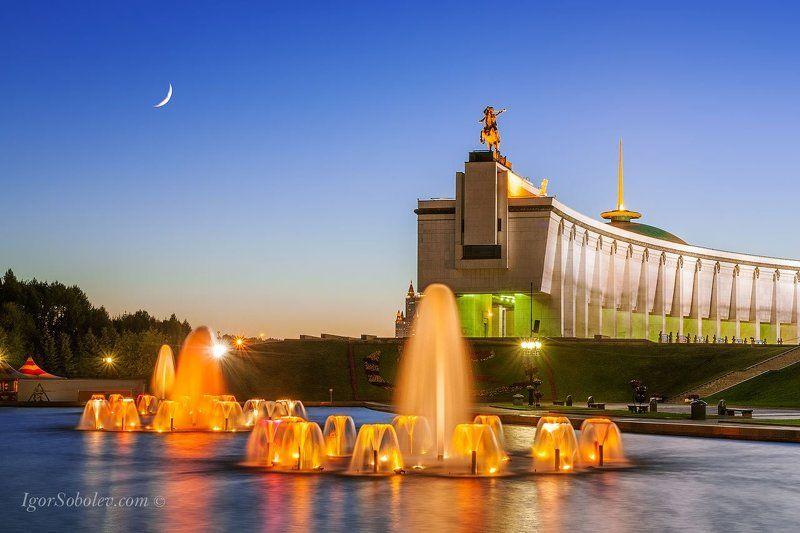 фонтан Поклоннаягора Москва вечер Фонтан на Поклонной гореphoto preview