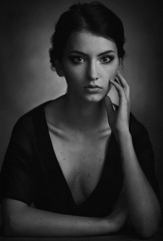 Взгляд, Девушка, Портрет, Свет, Студия, Тень ***photo preview