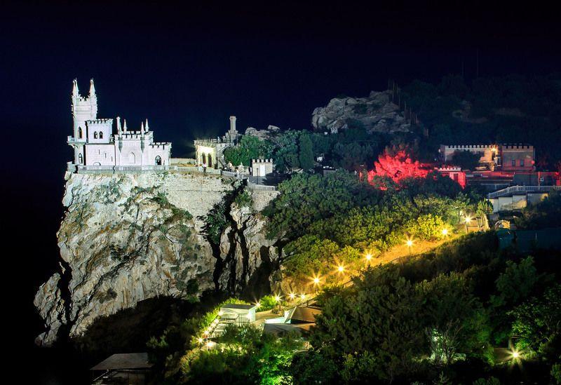 крым, ласточкино гнездо, ялта, ночь, замок Ласточкино гнездоphoto preview
