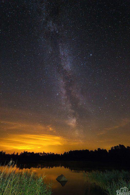 Звезды, Млечный путь, Московская область, Подмосковье, Талдом Талдомское звездное небо.photo preview