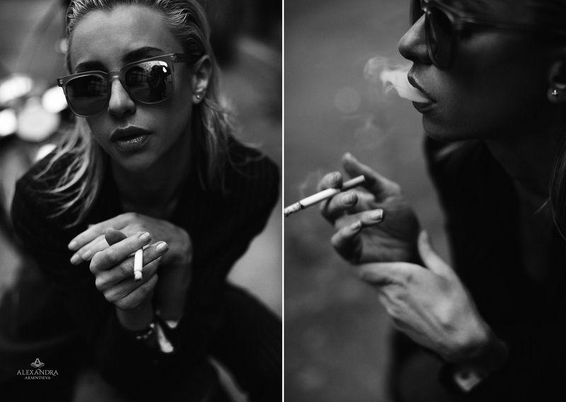 bw, dark, face, girl, model, mood, smoke Smokephoto preview