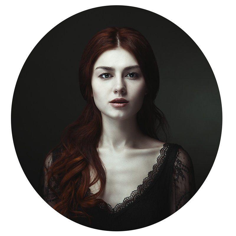 портрет, рыжая, девушка, винтаж photo preview