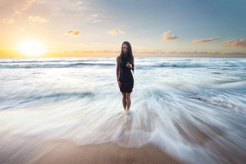 Закат, Море, Портрет, Эстония и создал бог женщинуphoto preview