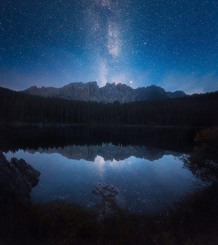 Ночь над озером Кареззаphoto preview