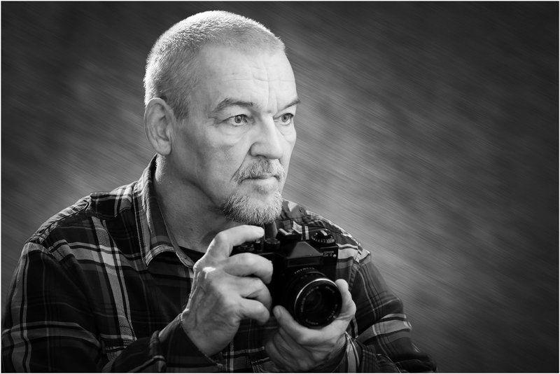 мужской, портрет, фотограф, чёрнобелый Остановить мгновенье!photo preview