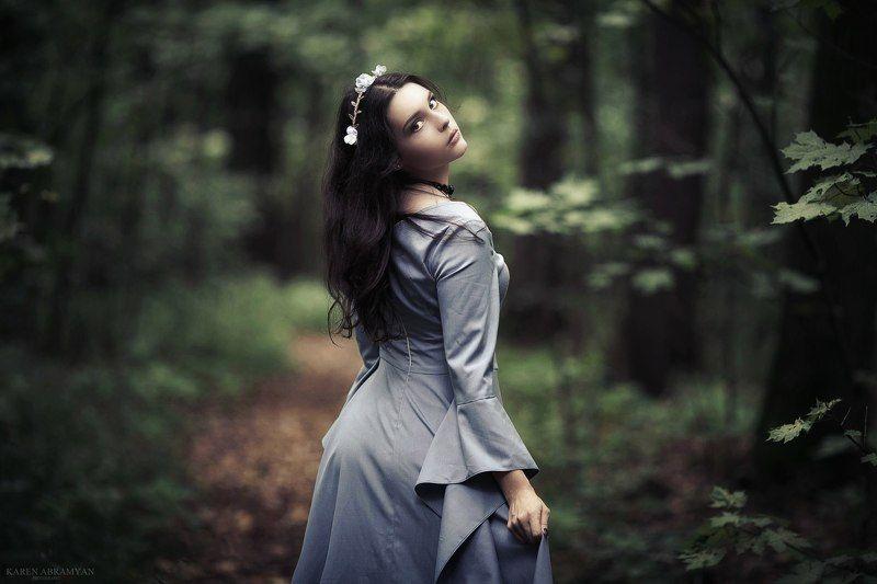 karen abramyan,fashion,art,portrait,girl.forest enchantressphoto preview