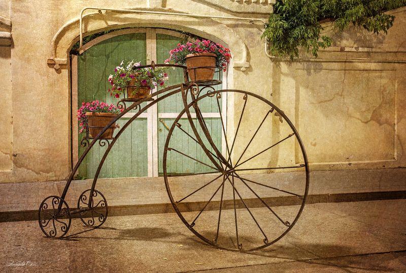 город,винтаж,Казань,фонарь,цветы Винтажные зарисовкиphoto preview
