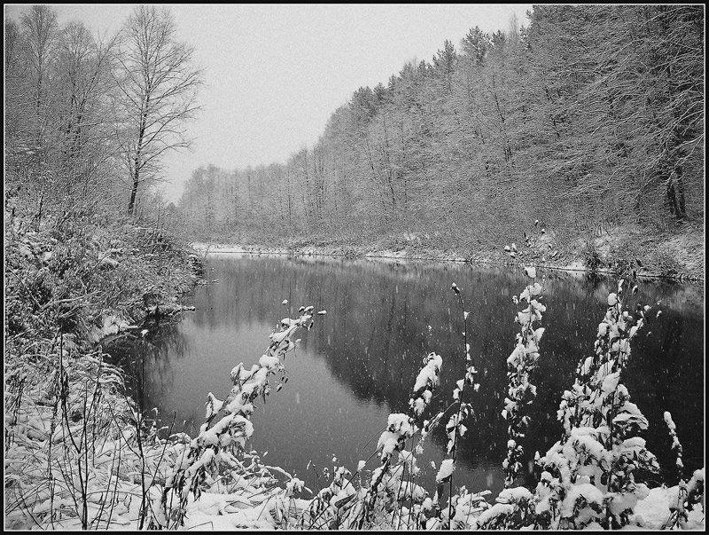 пейзаж,снег,осень,удмуртия Снежный октябрьphoto preview