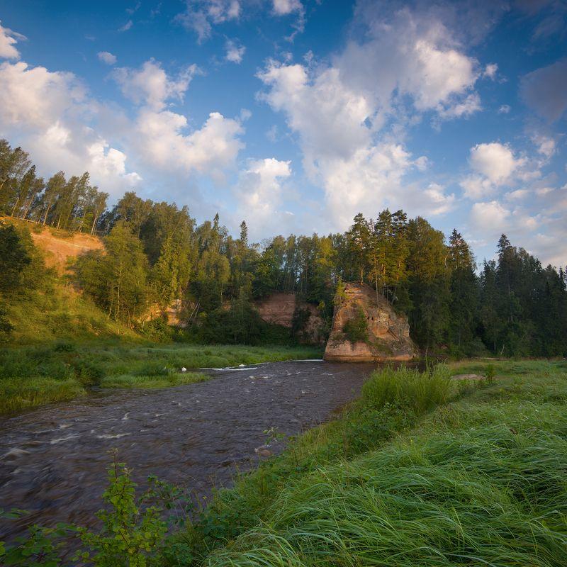 пейзаж Утро на Zvartes Iezisphoto preview