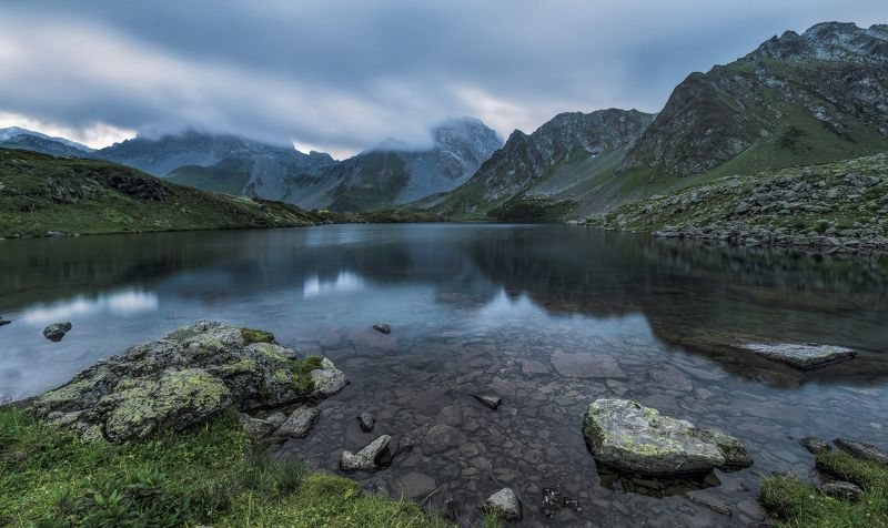 загедан, озеро, кчр, август, 2016, вечер ВЕЧЕРОМ НА ЗАГЕДАНСКОМ ОЗЕРЕphoto preview