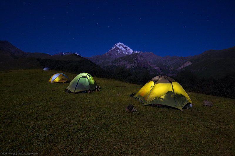 лагерь, казбеги, грузия, казбек, восхождение, ночь, палатка, звезды, горы, гора, отдых Ночь в Казбегиphoto preview