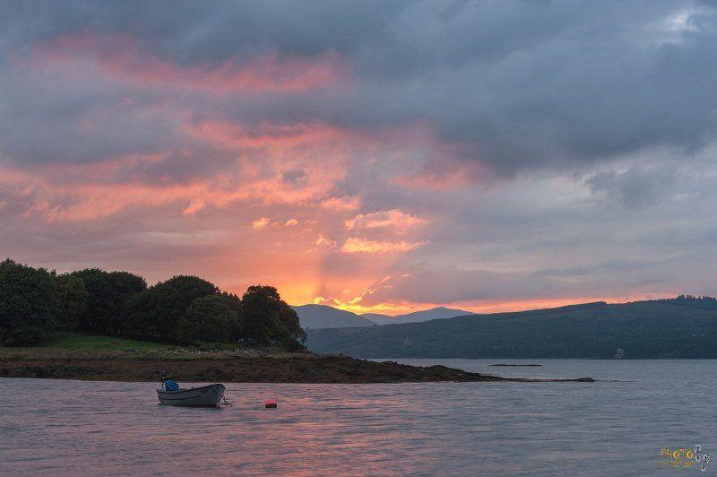 ирландия, фототур, закат Про лодку в закатных лучахphoto preview