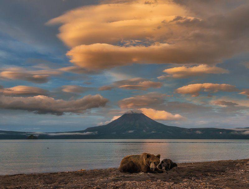 Камчатка, Курильское озеро Вечер на Курильском.photo preview
