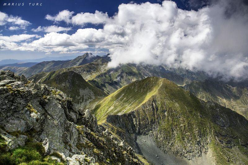 Fagaras mountains in Romania Dance of the cloudsphoto preview