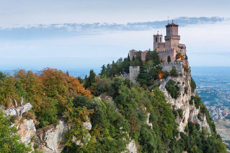 фототур, рассвет, италия, сан-марино, скала, замок Рассвет на Сан-Мариноphoto preview