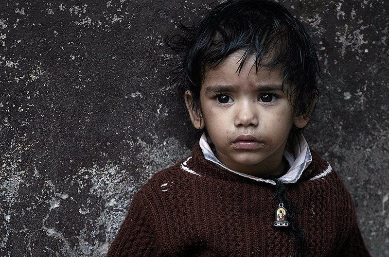 portrait, child, india, varanasi, street portrait, oren s ***photo preview