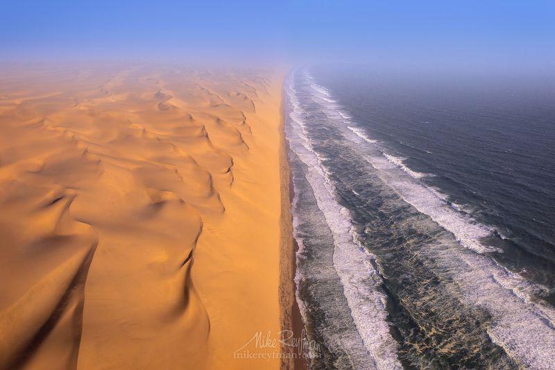aerial, atlantic ocean, namib desert, namibia, skeleton coast Два Океанаphoto preview