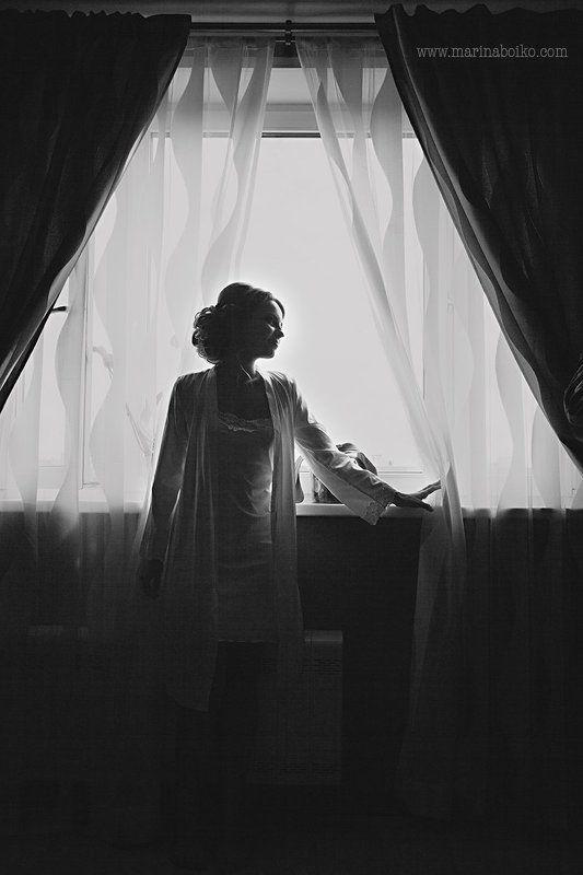 невеста, утроневесты, утро, свадьба, девушка, женщина, чернобелое, черное, белое, свет, окно, декор, контраст, силуэт, профиль, light, bnw, blackandwhite, woman, profile, decor, morning, bride, wife, beaty Утро невестыphoto preview