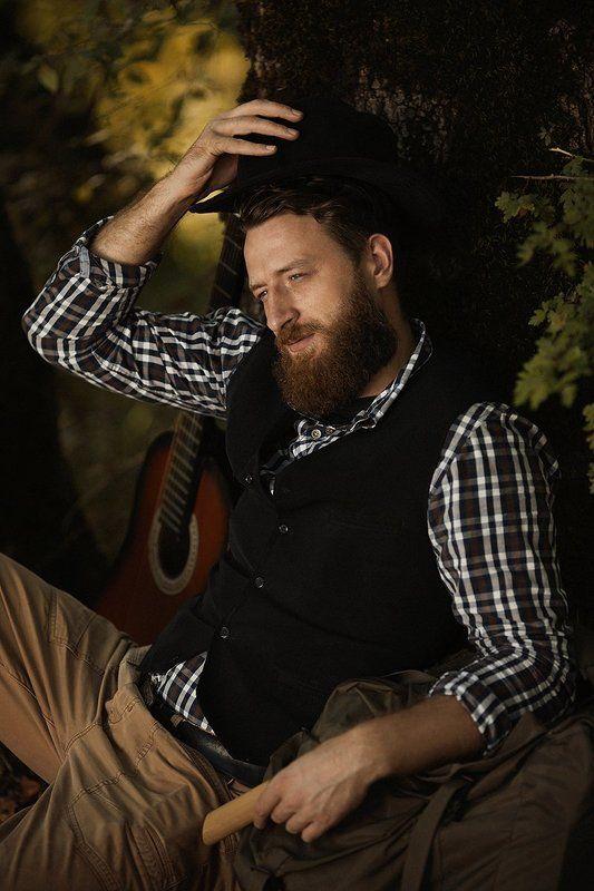 beard, canon, guitar, hat, man, photo, pig, portrait, гитара, мужчина, портрет, фото, шляпа Николайphoto preview