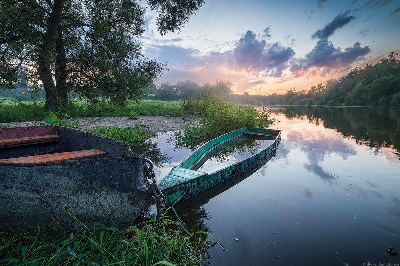 Вечер, Коростышев, Пейзаж, Р.Тетерев, Река, Тетерев, Украина Всем течениям вопрекиphoto preview