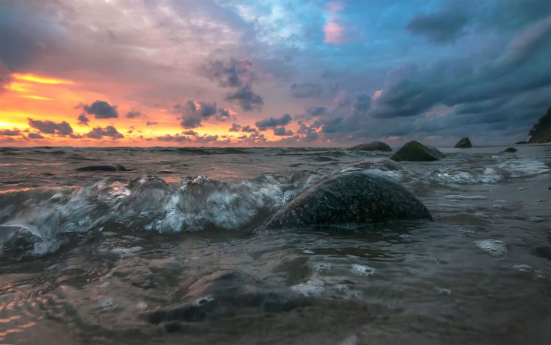 Seascape sunsetphoto preview