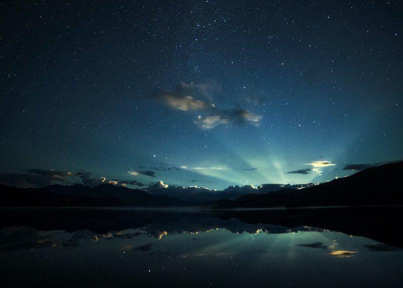 Восход луны на озере Язовом, Восточный Казахстанphoto preview