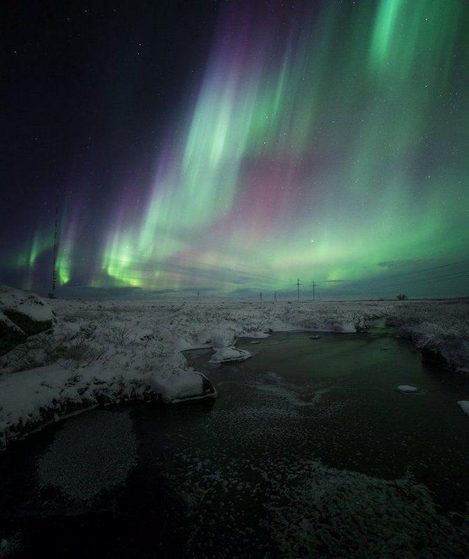 Заполярье, Ночной пейзаж, Север, Северное сияние По дороге на край Земли…photo preview