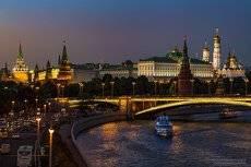 Москва, когда только зажглись фонари