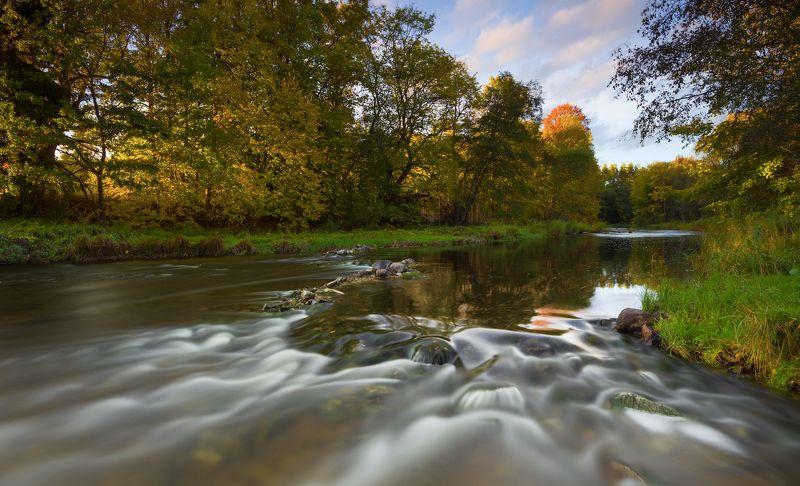 осень пейзаж латвия река вода Осень...photo preview
