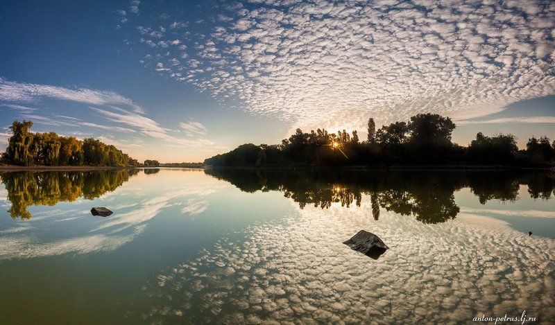 Озеро, Рассвет, Узин, Утро Следы рассветаphoto preview