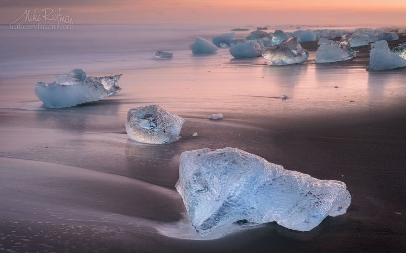Breidamerkursandur,, Iceland Ледовая Пастельphoto preview