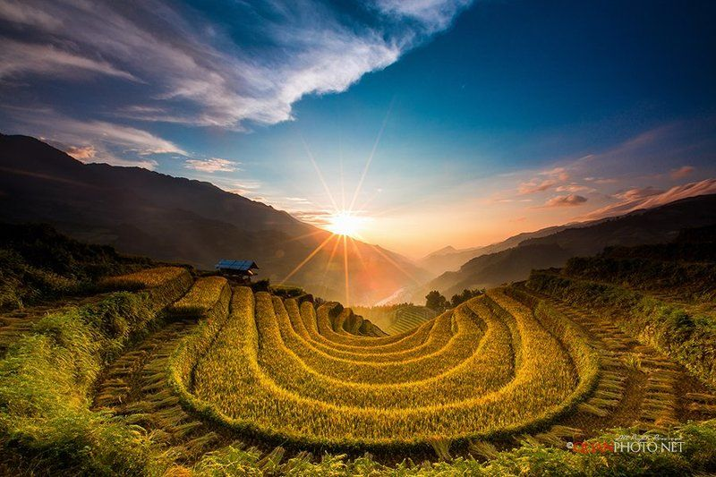#quanphoto,#landscape,#sunset,#sundown,#twilight,#valley,#mountains,#sky,#rice,#terraces,#fields,#mucangchai,#vietnam Before the sun goes downphoto preview