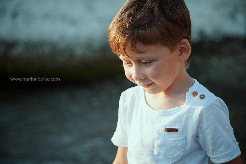 child, children, summer, sea, beach, sun, son, sunlight, portrair, childhood photo preview