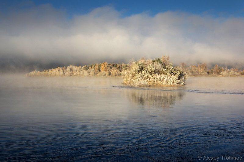 Пейзаж, Сибирь На границе осени и зимы...photo preview