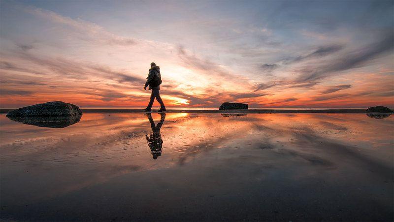 Man, Sky, Sunset Sunset balancephoto preview